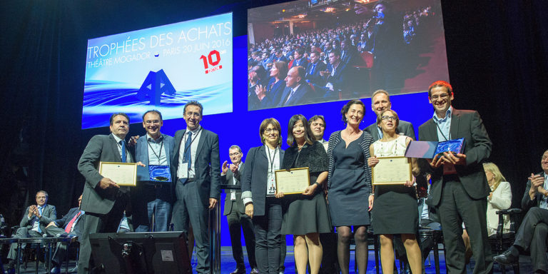 """The NGO Human Resources Without Borders (RHSF) wins the bronze medal in the """"Innovation for Business"""" category at the 10th edition of the 2016 Trophy for purchasing."""