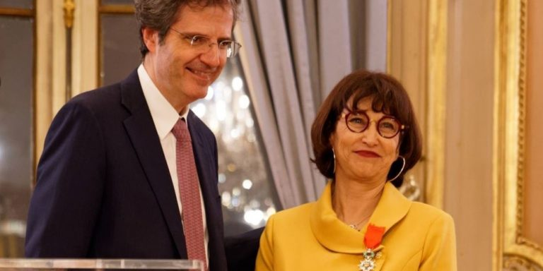 Martine Combemale received the Légion d'Honneur