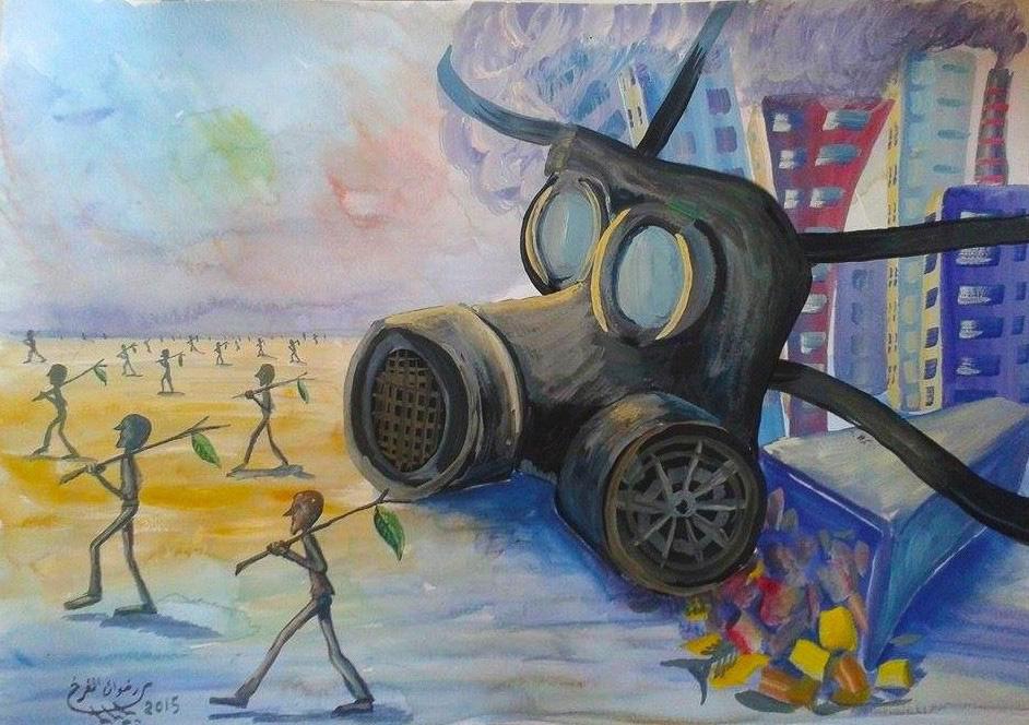 Dessin travail forcé et migrations climatiques - Redwan