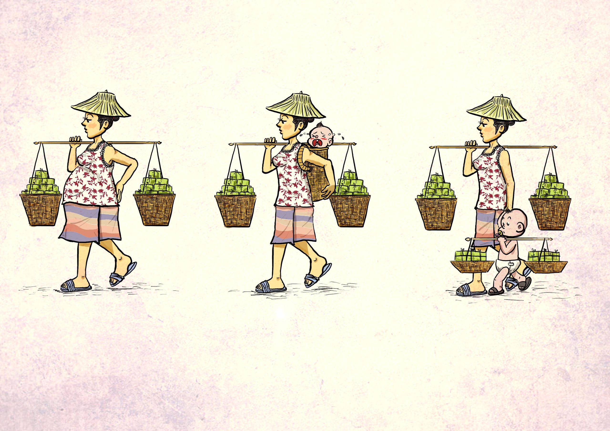 Travail des enfants - dessin de Supachai Chirakup (Thaïlande)