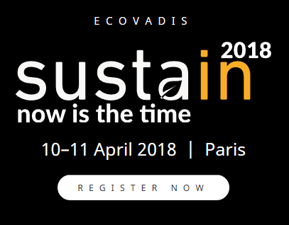 Affiche de la conférence Sustain now is the time
