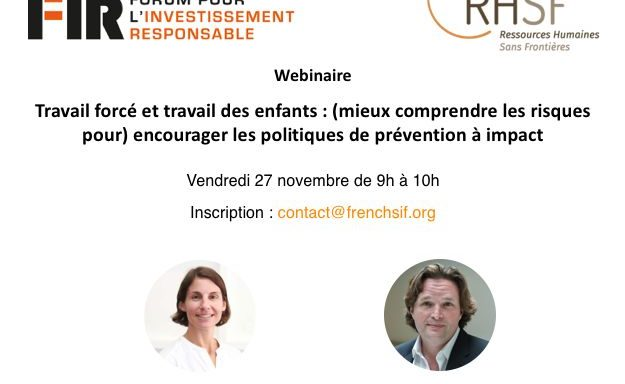 Responsible Investment Webinar: Encouraging Prevention Policies with Impact